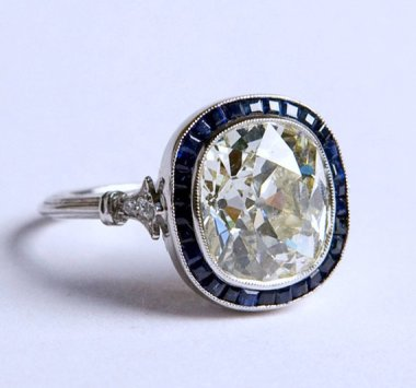 $40K Edwardian engagement ring sold by BlueRiver47