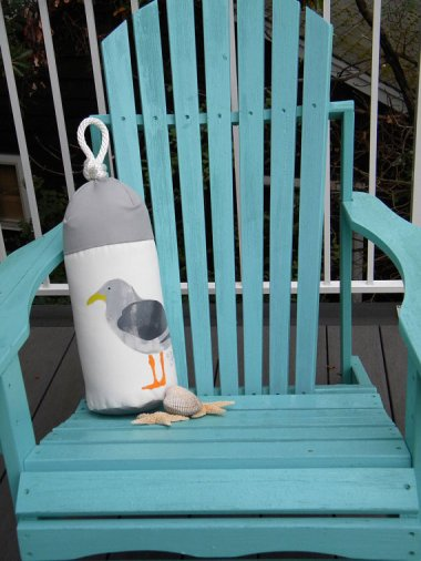 Seagull buoy pillow by CrabbyChris