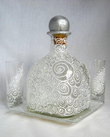 Painted decanter set by SkySpiritStudios