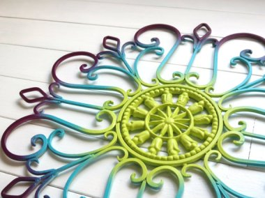 Wrought iron wall scroll (and you can pick your own colors!) WillowsGrace