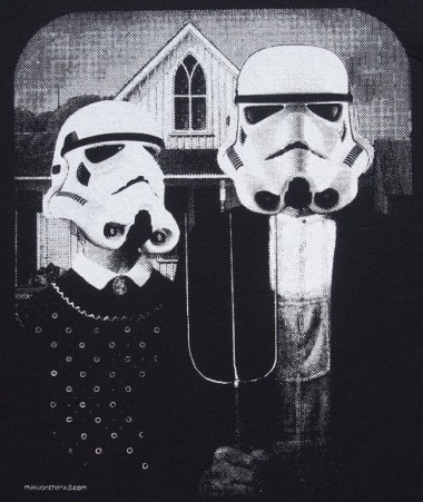 Storm trooper American Gothic spoof by MissionThread