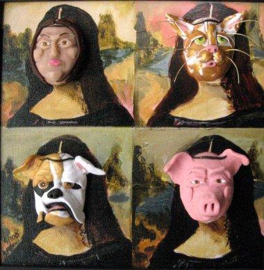 Mona Lisa mixed media