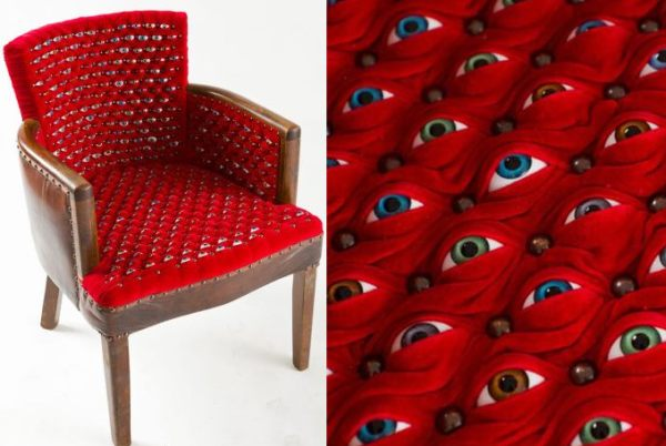 Scopophilia chair by Fiona Roberts. Yike.