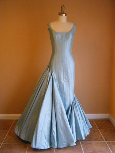 Asymmetrical mermaid gown by DesireeSpice