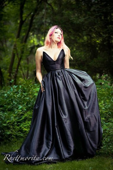 Custom-made satin gown by LadyVioletDesigns