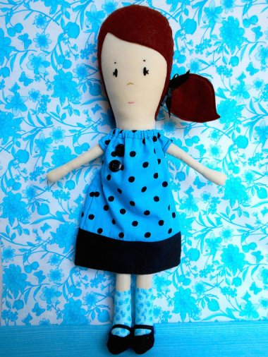 Bridget Doll sewing pattern by BlueWhimsyEtsy
