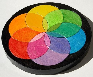 Beautiful color wheel puzzle by ThePuzzledOne