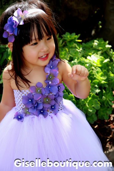 Spectacular flower girl dress and headpiece by GiselleBoutique