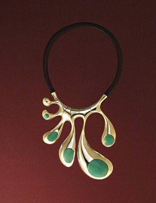 For $26K, you can be the proud owner of this necklace which looks to me like Ren of Ren & Stimpy's foot. By SimonMuscat