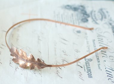 Let's start out with something pretty. Oak leaf headband by MyLavaliere