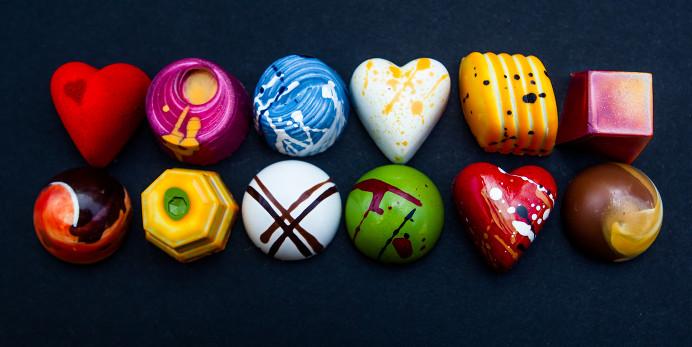 Hand Painted Chocolates Uk