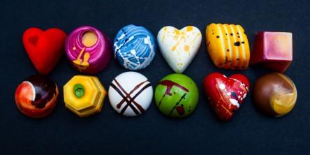 Handpainted chocolates by UK-based Arthouse Chocolates