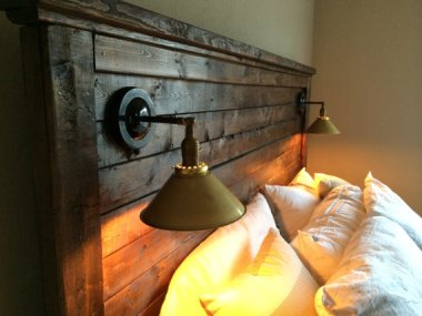 Spectacular rustic industrial bed by HenryAndWales