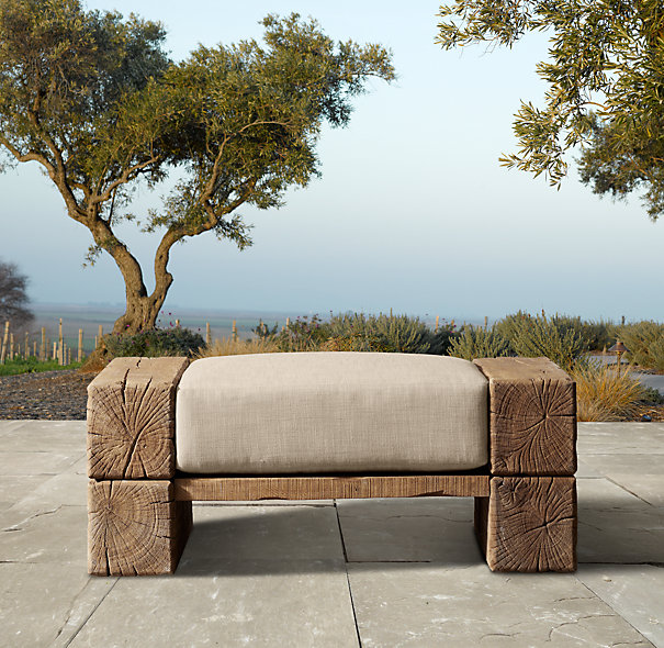 Aspen ottoman for NINE HUNDRED SIXTY FIVE DOLLARS. Seriously. Again, sans $385 cushion.