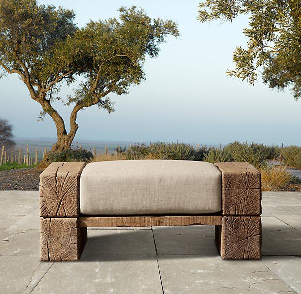 Aspen ottoman for NINE HUNDRED SIXTY FIVE DOLLARS. Seriously. Again, sans $385 cushion.
