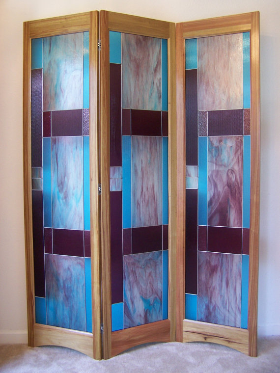 Stained glass room divider by Adair Glass Design