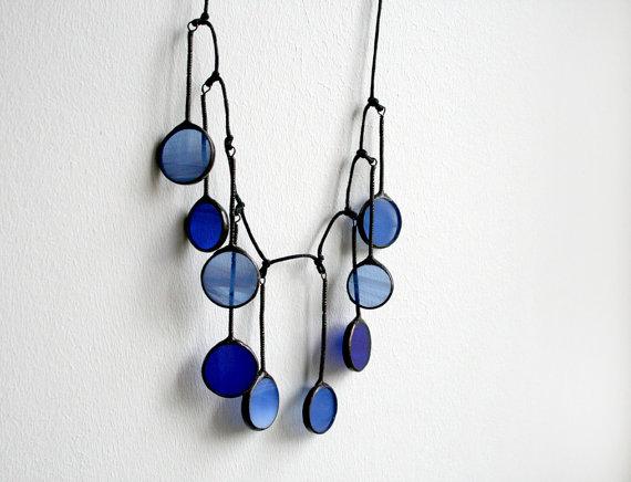 Stained glass necklace by ArtKvarta