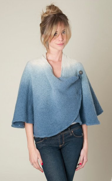 Love this stunning ombre cape-styled jacket by Texturable