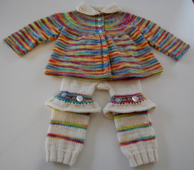 For the baby clown in your life. I see where she was going, but she overshot by a bit. By KimDyesYarn