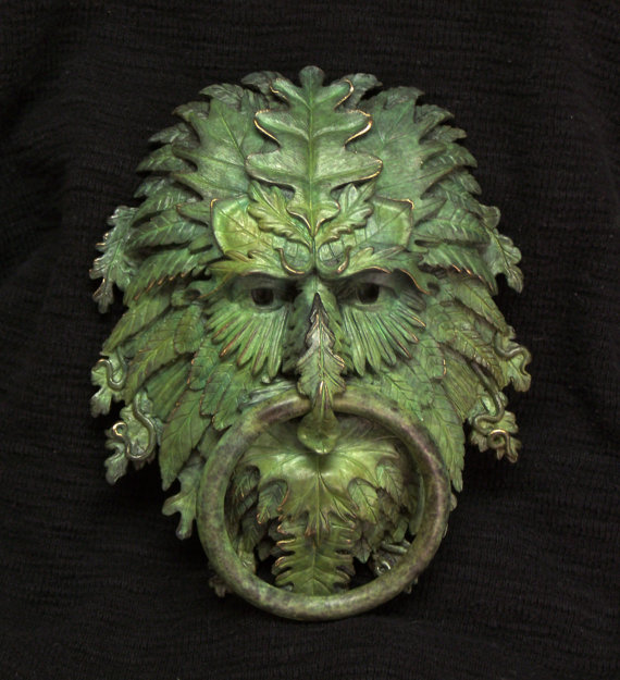 Nice knockers my obt - Greenman door knocker ...