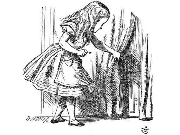 "Sir John Tenniel's Illustration from Lewis Carroll's ""Alice's Adventures in Wonderland"""