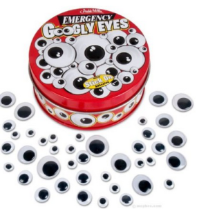 Emergency Googly Eyes (I got these for my birthday, and I'm already nearly out of them.)