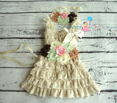 At least there's a flower girl dress to go with it. By HappyBOWtique