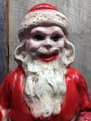 Thoroughly terrifying (and familiar-looking) lawn Santa, sold by IFindUTreasure