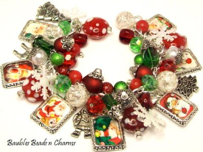 Ugly Christmas jewelry maniacally assembled by BaublesBeadsNCharms