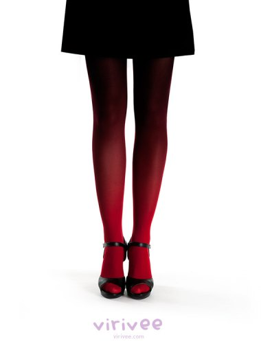 These wonderful ombre tights are much more my speed (and less likely to cause blood loss). By Virivee