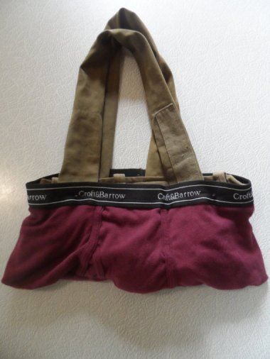 """And speaking of recycled underwear . . . """"Junk in Your Trunk Purse"""" by TuneOutNow. The less I say about these, the better."""