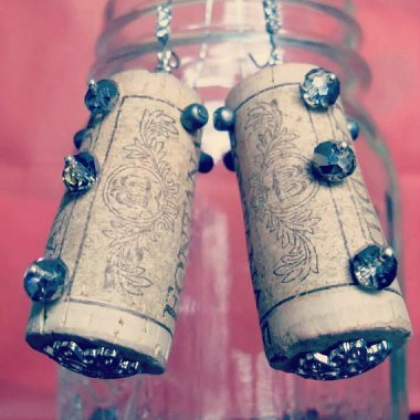 """These wine cork earrings are """"made to order."""" How long do they take? Takes a couple of days. Oh, wait, the tea-totaling in-laws are coming. I can have them ready for you tomorrow."""