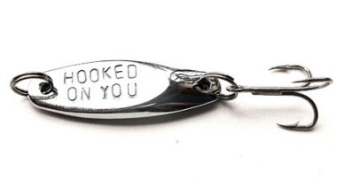Not entirely sure how romantic this is . . . Hooked on you fishing lure by WyomingCreative