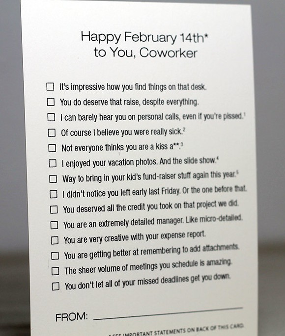 Really quite funny office-appropriate card. By FinchAndHare