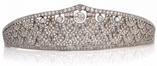 I could definitely make room in my jewelry box for this 21 carat diamond tiara! Sold by DoverJewelry
