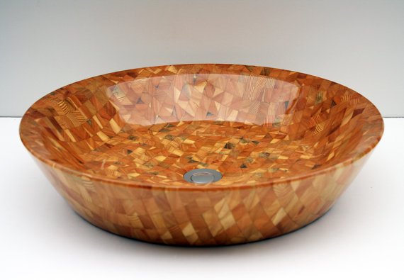 Vostok - Larch wooden counter-top bath vessel sink