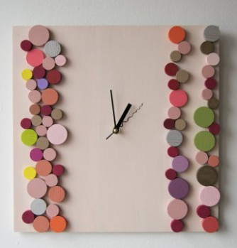 """On the other hand, I find this """"Deco Candy Bubbles"""" clock by DecoBoxRo to be thoroughly adorable"""