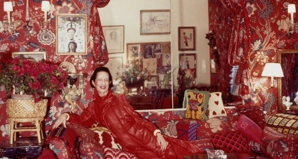 Diana Vreeland's all red sitting room