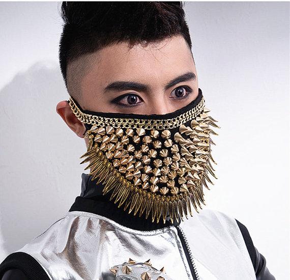 Gold Rivet Mask