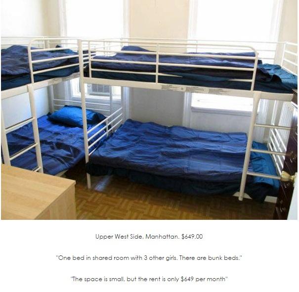 Upper West Side barracks bed for rent