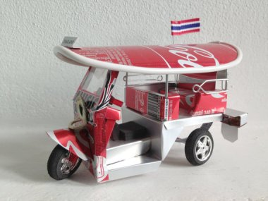 I was a big fan of this tuk-tuk (rikshaw) from Thailand until I realized it was made of Coca-Cola cans. Ugh. By SomethingInTheBox