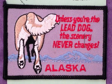 While the sentiment may be accurate, do you really want it hanging on your wall? Alaska souvenir sold by HeydayRetroMart
