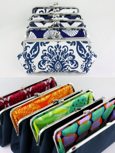 Bridesmaids clutch bags by FABridal