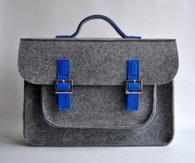 Felt briefcase by KMBaggies