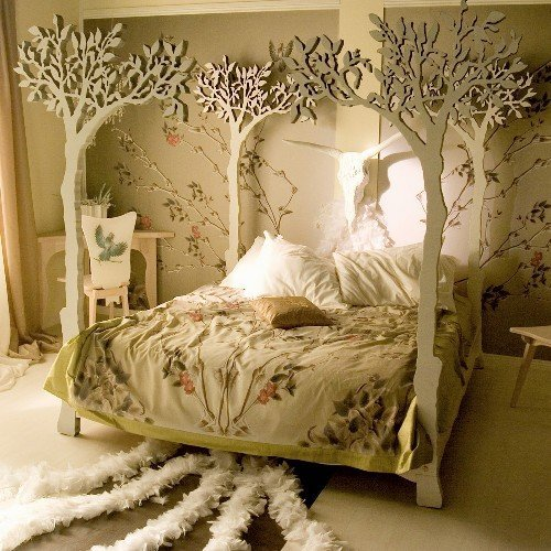 "Google calls this the ""most beautiful bed in the world."" It's sweet, I guess, but way too fussy for me."