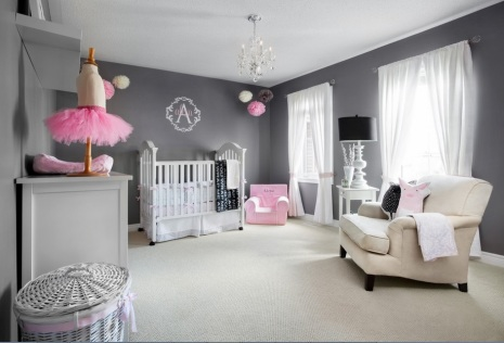 Pink and Grey nursery by Draw-me-a-Sheep-Baby-Design-Boutique photo by Lisa Petrole Photography