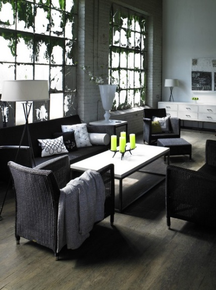 Black white and grey living room by Rupal Mamtani