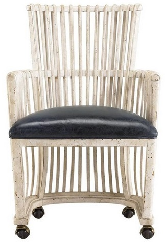 This Carribean-flavored chair is a refreshing departure from some of the heavier black & white options I found. Sold by Houzz