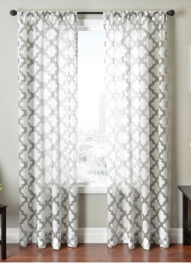Thanks to my allergies (and the low height of my ceilings), I usually cover my windows with blinds rather than softer coverings like curtains. These, however, are an absolute knockout! Sold by Overstock