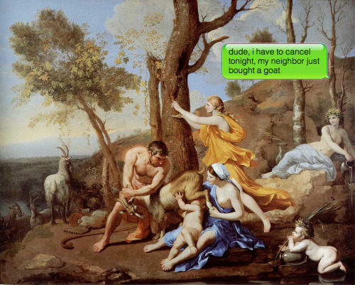 Nicolas Poussin | The Athenaeum- The Infant Jupiter Nurtured by the Goat Amalthea | c. 1638